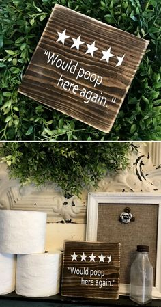 Hahaha stars for the bathroom! Would poop here again wood sign funny bathroom decor funny housewarming gift idea farmhouse decor rustic decor primitive sign home decor - March 09 2019 at Funny Bathroom Decor, Bathroom Humor, Bathroom Ideas, Funny Bathroom Quotes, Rustic Bathroom Decor, Bathroom Wall, Bathroom Crafts, Washroom, Signs For Bathroom
