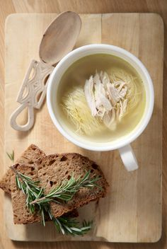 chicken soup with greek noodles