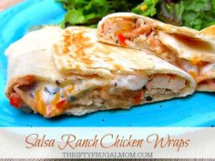 Salsa Ranch Chicken Wraps- simple and yet filling, these moist, flavorful wraps are easy to make and always a hit! They are perfect for quick, last minute meals.
