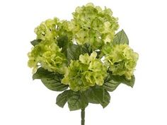 "Garden Silk Hydrangea Bush in Two Tone Green 17.5"" Tall"