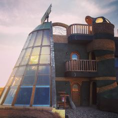 The Towers Earthship. New home to the Earthship Biotecture business and Academy offices. #earthship #earthshipacademy #taos