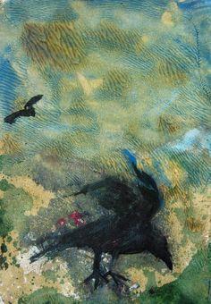 monoprint crow