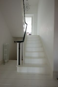 Painted white staircase