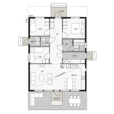 Future House, My House, Small House Plans, Deco, My Dream Home, Interior And Exterior, Floor Plans, Layout, Cabin
