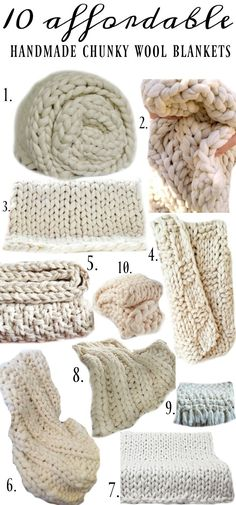 10 of the best affordable handmade chunky wool blankets - A must pin for farmhouse and cottage decor!