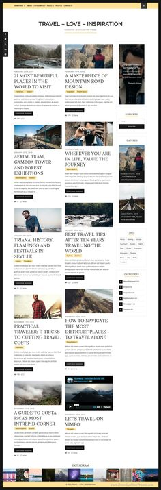 Forester is a minimal and stylish WordPress theme for any kind of blog, #personal, food, travel, #photography, publishing or tutorial #blog sites. Download Now!
