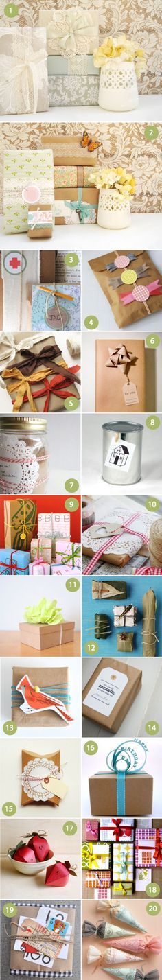 Fun ways to wrap gifts. Def. gonna do this come Christmas time :)