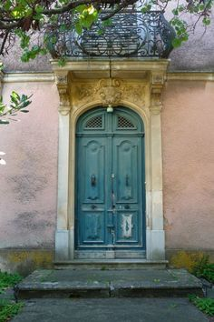 turquoise door with great patina