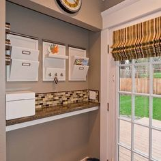 Mudroom on pinterest lockers mud rooms and cubbies for Kitchen drop zone ideas