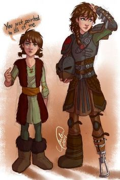 Omg I luv this! How to Train Your Dragon genderbend! Hiccup would look pretty funny as a girl. DreamWorks again! Disney Pixar, Disney And Dreamworks, Disney Animation, Disney Art, Animation Movies, How To Train Dragon, How To Train Your, Disney Dream, Disney Love