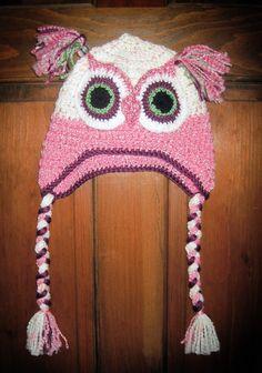 Hew WHo? Crochet Owl Hat