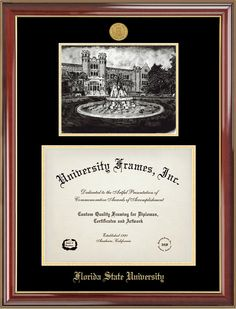 florida state university westcott diploma frames - Diploma Frames With Tassel Holder