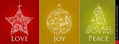 Free Love, Joy & Peace Christmas Facebook Timeline Cover