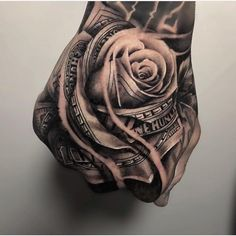 Unique Hand Tattoo Ideas For Guys - Best Hand Tattoos For Men: Cool Hand Tattoo . - Unique Hand Tattoo Ideas For Guys – Best Hand Tattoos For Men: Cool Hand Tattoo Designs and Ideas - Money Rose Tattoo, Rose Hand Tattoo, Skull Hand Tattoo, Unique Hand Tattoos, Hand Tattoos For Women, Mens Hand Tattoos, Best Tattoos For Men, Tattoo Sleeve Designs, Tattoo Designs Men