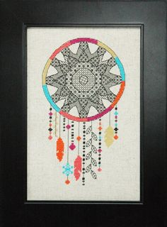 http://www.tinymodernist.com/products/blackwork-dream-catcher-cross-stitch-pattern-instant-download
