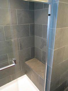 slate showers | Loft Master Bath Lockerbie Slate Shower Bench