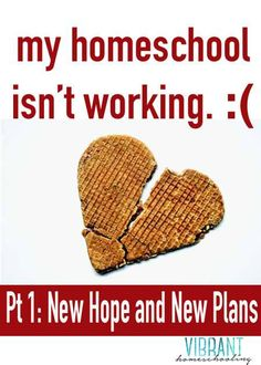 Homeschool help: What do you do when your homeschool is not working?  Here's one mom's story. Vibrant Homeschooling