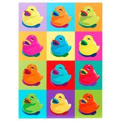 Warhol-esque duckies for the bathroom