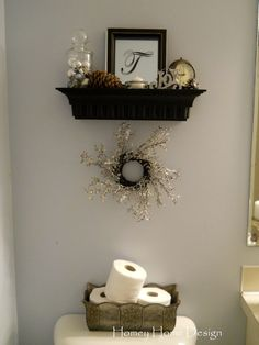 Box and Shelf Above Toilet - this is what I need to do with that space in the kids bathroom