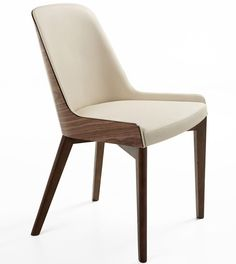 The Nuans Collection is very young, utterly attractive modern furniture collection. Commercial grade, minimally designed, very unique furniture line.Hudson Plywood Side Chair Wood Base by Nuans Design