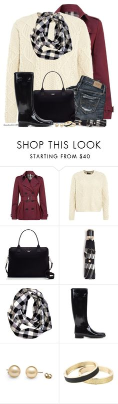 """""""Hunter Boots"""" by houston555-396 ❤ liked on Polyvore featuring Burberry, Topshop, Kate Spade, Hunter, Betsey Johnson, women's clothing, women's fashion, women, female and woman"""