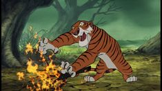 "Screenshot of Sher Kahn ""The Jungle Book"" (1967)"