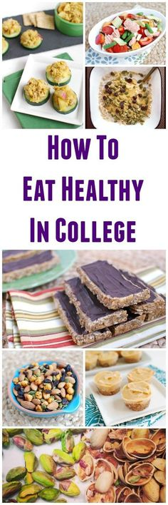 Tips, tricks and advice about how to eat healthy in a college dorm.
