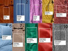 A ideia da Pantone é se basear nas cores reais e irreais, no presente e no ausente, sendo assim há também uma cartela de tons sóbrios.