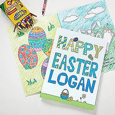 Buy personalized coloring books for Easter. Add kids' names & select a character that looks like them. Easter Coloring Pictures, Easter Colouring, Easter Pictures, Coloring Books, Easter Gift, Easter Crafts, Happy Easter, Easter Bunny, Easter Decor