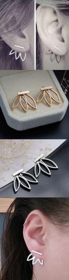 Hollow Out Leaf Flower Stud Earrings PersonaJewelries Regular price $7.02