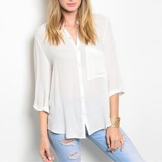 White Sands Button Front Top | SexyModest Boutique #smbfaves