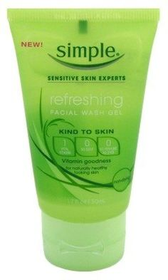 Simple Refreshing Facial Wash Gel 1.7oz (3 Pack) *** Check out the image by visiting the link.