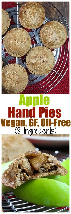 Beautiful Apple Hand Pies to wow your guests this holiday! You only need 8 ingredients total to make this and it's vegan, gluten-free and no butter or oil!