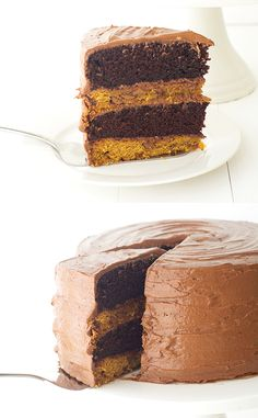 Double Chocolate Cookie Cake. Put a fork in me, I'm done, this is the ultimate dessert, cookie layers and cake layers!