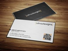 Clean QR Code Business Card #3 by UltraDesigns on @creativemarket