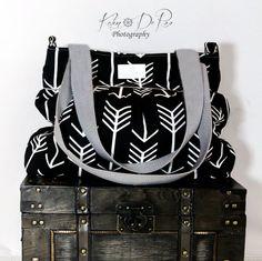 Black Arrow Large Diaper Bag Stroller Bag by PreciousLittleTot
