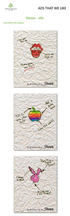 PUBlicité - Ads that we like - Sharpie - USA. It all started with a Sharpie...
