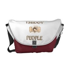 shoot people funny text photo camera photographer courier bag - photo gifts cyo photos personalize