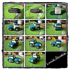 Výsledek obrázku pro fondant tractor tutorial cake for you Cake Topper Tutorial, Fondant Tutorial, Fondant Cake Toppers, Cupcake Cakes, Cupcakes, Beetroot Chocolate Cake, Tractor Birthday Cakes, Tractors For Kids, Farm Animal Cakes