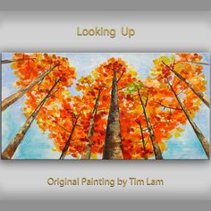Items similar to Original Landscape Painting fine art Looking Up Forest Original huge modern acrylic on canvas on Etsy Abstract Landscape Painting, Painting Art, Forest Art, Ship Art, Learn To Paint, Art Techniques, Painting Inspiration, Amazing Art, Awesome