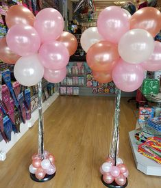 Balloon topiary in pink, rose gold and white with silver tassel tails Birthday Goals, 13th Birthday, Unicorn Birthday, Birthday Ideas, Balloon Topiary, Balloon Columns, Balloon Arch, Balloon Arrangements, Balloon Centerpieces