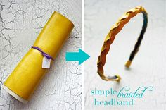 braided headband tutorial - I'm headed to Oregon Leather soon to try all these out! :D (I've been on the search for cute leather headbands, I didn't even think to make it myself!?)