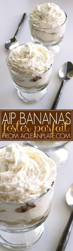 AIP-friendly Bananas Foster Parfait recipe from http://acleanplate.com
