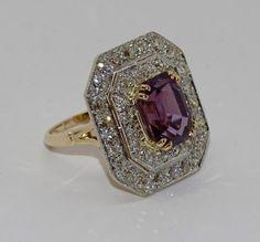 Purple Spinel Alternative Engagement Ring