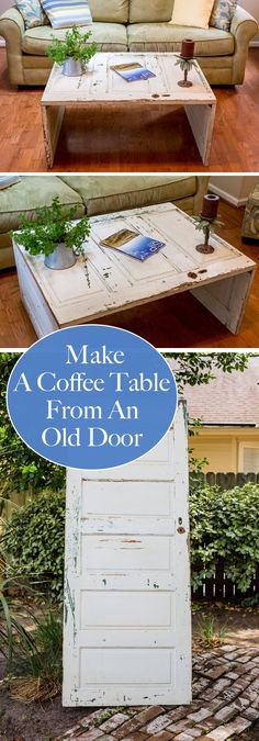 Make a Coffee Table From an Old Door