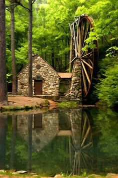 Old Mill at Berry College - Rome, Georgia USA! —