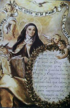 Saint Teresa Of Avila, Van, Santos, Frases, Angels, Vans