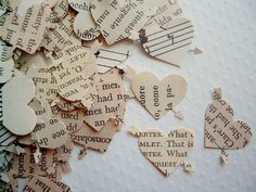 vintage wedding confetti - maybe scattered around the table centerpieces?