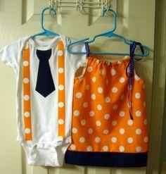 Kids' Auburn Gameday attire.