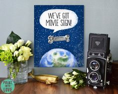 MST3K Mystery Science Theater 3000 We've Got Movie Sign Satellite of Love Movie Poster Vintage Inspired Space
